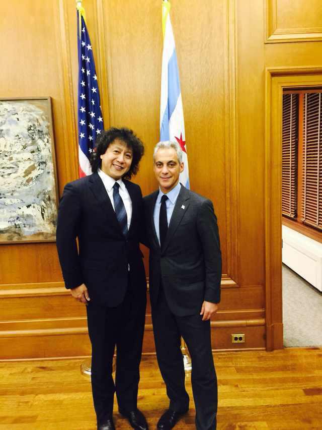 现任芝加哥市长Rahm Emanuel 、在芝加哥市长办公室与ETW创始人正式会谈,拉姆市长支持ETW美国在芝加哥的发展!
